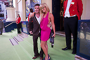 GREG BURNS; GEORGIE LEAHY, SHREK press night arrivals. Theatre Royal. Drury Lane. London. 14 June 2011. <br /> <br />  , -DO NOT ARCHIVE-© Copyright Photograph by Dafydd Jones. 248 Clapham Rd. London SW9 0PZ. Tel 0207 820 0771. www.dafjones.com.