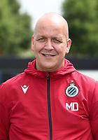KNOKKE-HEIST, BELGIUM - JULY 10: Michel Dierings, kit man of Club Brugge, during the 2019 - 2020 season photo shoot of Club Brugge on July 10, 2019 in Knokke-Heist, Belgium. (Photo by Vincent Van Doornick/Isosport)