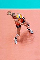 11–01-2020 NED: Semi Final Olympic qualification tournament women Germany - Netherlands, Apeldoorn<br /> First semi final match Germany - Netherlands 3-0 / Maret Balkestein-Grothues #6 of Netherlands
