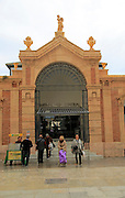 Central market building in city centre of Almeria, Spain