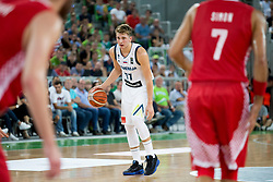 Luka Doncic of Slovenia during friendly basketball match between Slovenia and Croatia before European Championships 2017, on August 24 2017 in SRC Stozice, Ljubljana, Slovenia. Photo by Urban Urbanc / Sportida