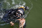 Paris, France. 10 Mai 2009..Brigade Fluviale de Paris...Paris, France. May 10th 2009..Paris fluvial squad...