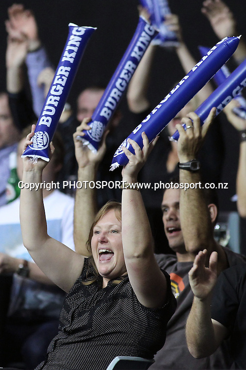 Breakers Fans. iinet ANBL, Semi-Final Game 3, New Zealand Breakers vs Perth Wildcats, North Shore Events Centre, Auckland, New Zealand. Wednesday 13th April 2011. Photo: Anthony Au-Yeung / photosport.co.nz