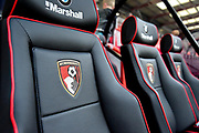 AFC Bournemouth dugout seats during the EFL Cup match between Bournemouth and Brighton and Hove Albion at the Vitality Stadium, Bournemouth, England on 19 September 2017. Photo by Adam Rivers.