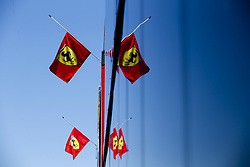July 29, 2018 - Budapest, Hungary - Motorsports: FIA Formula One World Championship 2018, Grand Prix of Hungary, .Scuderia Ferrari flag  (Credit Image: © Hoch Zwei via ZUMA Wire)