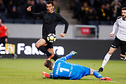 SOLNA, SWEDEN - MARCH 13: Nabil Bahoui of AIK attacks during the Swedish Cup Quarterfinal between AIK and Orebro SK at Friends arena on March 13, 2018 in Solna, Sweden. Photo by Nils Petter Nilsson/Ombrello<br /> ***BETALBILD***