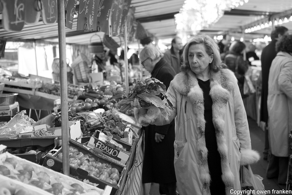 the Saturday market near Place d'Alma, Paris
