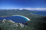 Wineglass Bay.view from Mt.Amos.Freycinet Natl. Park.Tasmania.Australia