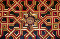 ceiling drawing in Junagarh Fort in city of Bikaner rajasthan state in india