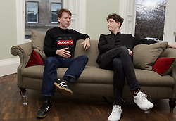 Franz Ferdinand band members Alex Kapranos (left)  and Julian Corrie at a press conference ahead of their Hogmanay gig in Edinburgh. pic copyright Terry Murden @edinburghelitemedia