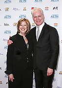 Abbe Raven and Tim Gunn attend the A&E Upfronts at the IAC Building in New York City on May 5, 2010.