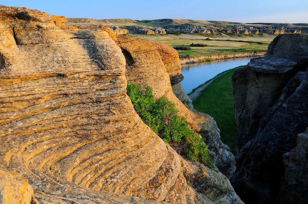 Milk River, Writing on Stone Provincial Park, Alberta, Canada.