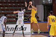 """DESCRIZIONE : Torneo Città di Sassari """"Mimì Anselmi"""" Dinamo Banco di Sardegna Sassari - AEK Atene<br /> GIOCATORE : Dusan Sakota<br /> CATEGORIA : Tiro Tre Punti Three Point Controcampo Ritardo<br /> SQUADRA : AEK Atene<br /> EVENTO :  Torneo Città di Sassari """"Mimì Anselmi"""" <br /> GARA : Dinamo Banco di Sardegna Sassari - AEK Atene Torneo Città di Sassari """"Mimì Anselmi""""<br /> DATA : 12/09/2015<br /> SPORT : Pallacanestro <br /> AUTORE : Agenzia Ciamillo-Castoria/L.Canu"""