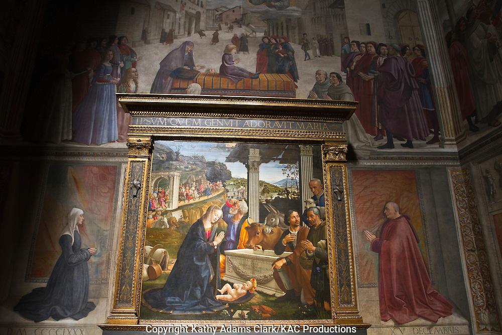 Basilica di Santa Trinita, or Church of the Holy Trinity, Florence, Firenze, Italy.