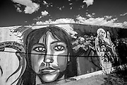 "A Mural painted by Maclovio ""MAC"" Macias to commemorate the lives of Esmeralda Castillo Rincon and Brenda Berenice Castillo Garcia. There is a concerted effort by local street artists to paint as many murals as possible due to the municipality's unwillingness to continue to let activists hang posters for the missing. Ciudad Juarez, Mexico. May 18, 2015. (Photo by Gabriel Romero ©2015)"