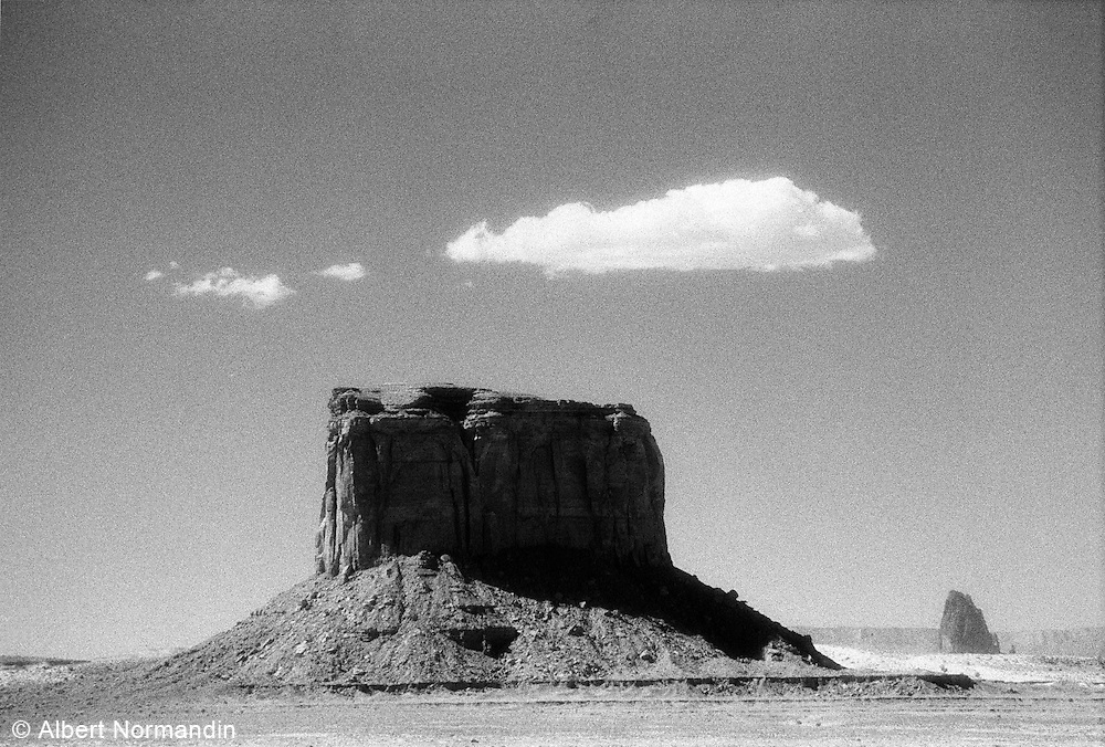 Monumental rock with cloud