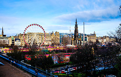 The 'big wheel' in Edinburgh's East Princes Street Gardens is a major attraction in 'Edinburgh's Christmas'.<br /> <br /> (c) Andrew Wilson | Edinburgh Elite media