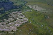 An aerial over Katmai, Alaska