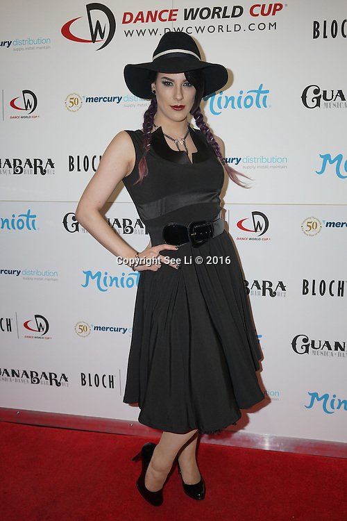 London,England,UK : 28th April 2016 Jasz Vegas of the BBC Killer Magic attend Dance World Cup attend Kimberly Wyatt launches the 2016 annual BLOCH Dance World Cup at BLOCH, 35 Drury Lane, Covent Garden, London. Photo by See Li