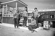 09/08/1967<br /> 08/09/1967<br /> 09 August 1967<br /> Opening of Esso service station at Dean's Grange, Dublin. The site was originally a sculptures yard was a 2-bay service station with the latest equipment. It was to be a 24 hours station and a 5-minute Car Wash and Electronic Tuning was available.  The Esso attendants pose for the camera.