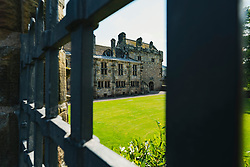 Exterior of Falkland Palace in Falkland, Fife, Scotland, UK