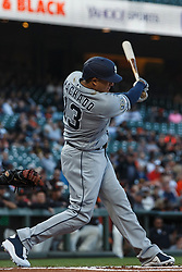 SAN FRANCISCO, CA - JUNE 12: Manny Machado #13 of the San Diego Padres at bat against the San Francisco Giants during the first inning at Oracle Park on June 12, 2019 in San Francisco, California. The San Francisco Giants defeated the San Diego Padres 4-2. (Photo by Jason O. Watson/Getty Images) *** Local Caption *** Manny Machado