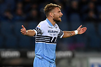 Ciro Immobile of Lazio reacts during the Serie A 2018/2019 football match between SS Lazio and FC Internazionale at stadio Olimpico, Roma, October, 29, 2018 <br />  Foto Andrea Staccioli / Insidefoto