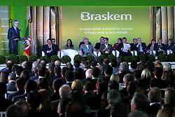 Presidente Luis Inácio Lula da Silva durante a inauguração da planta de eteno verde da Braskem, no pólo petroquímico, em Triunfo, no RS. FOTO: Jefferson Bernardes/Preview.com