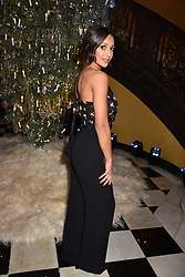 Roxie Nafousi at reception to celebrate the launch of the Claridge's Christmas Tree 2017 at Claridge's Hotel, Brook Street, London England. 28 November 2017.<br /> Photo by Dominic O'Neill/SilverHub 0203 174 1069 sales@silverhubmedia.com