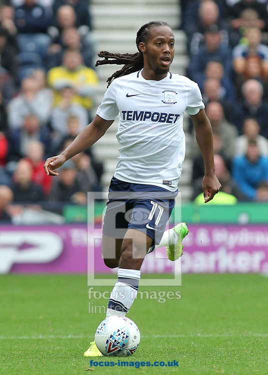 Daniel Johnson of Preston North End in action against Sunderland during the Sky Bet Championship match at Deepdale, Preston.<br /> Picture by Michael Sedgwick/Focus Images Ltd +44 7900 363072<br /> 30/09/2017