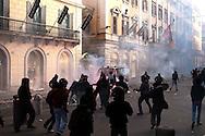 Roma 14 Dicembre 2010.<br /> Manifestazione contro il Governo Berlusconi.  I manifestanti assaltano un blindato della Guardia di Finanza in via del Corso.<br /> Rome December 14, 2010.<br /> Demonstration against the Berlusconi government. Protesters attack police