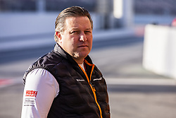 February 18, 2019 - Barcelona, Barcelona, Spain - Zak Brown Team Chief of Mclaren F1 Team - Renault MCL34 portrait during the Formula 1 2019 Pre-Season Tests at Circuit de Barcelona - Catalunya in Montmelo, Spain on February 18, 2019. (Credit Image: © Xavier Bonilla/NurPhoto via ZUMA Press)