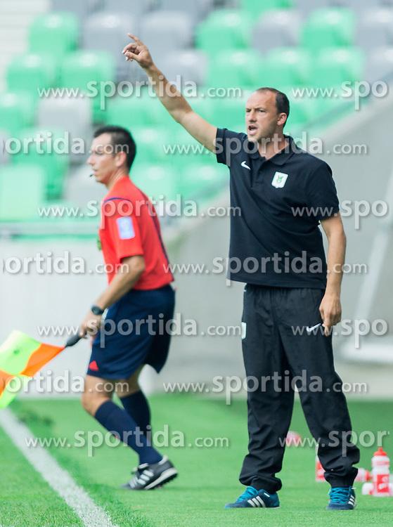 Darko Karapetrovic, head coach of Olimpija during football match between NK Olimpija and NK Krka in Round 1 of Prva liga Telekom Slovenije 2014/15, on July 19, 2014 in SRC Stozice, Ljubljana, Slovenia. Photo by Vid Ponikvar / Sportida.com