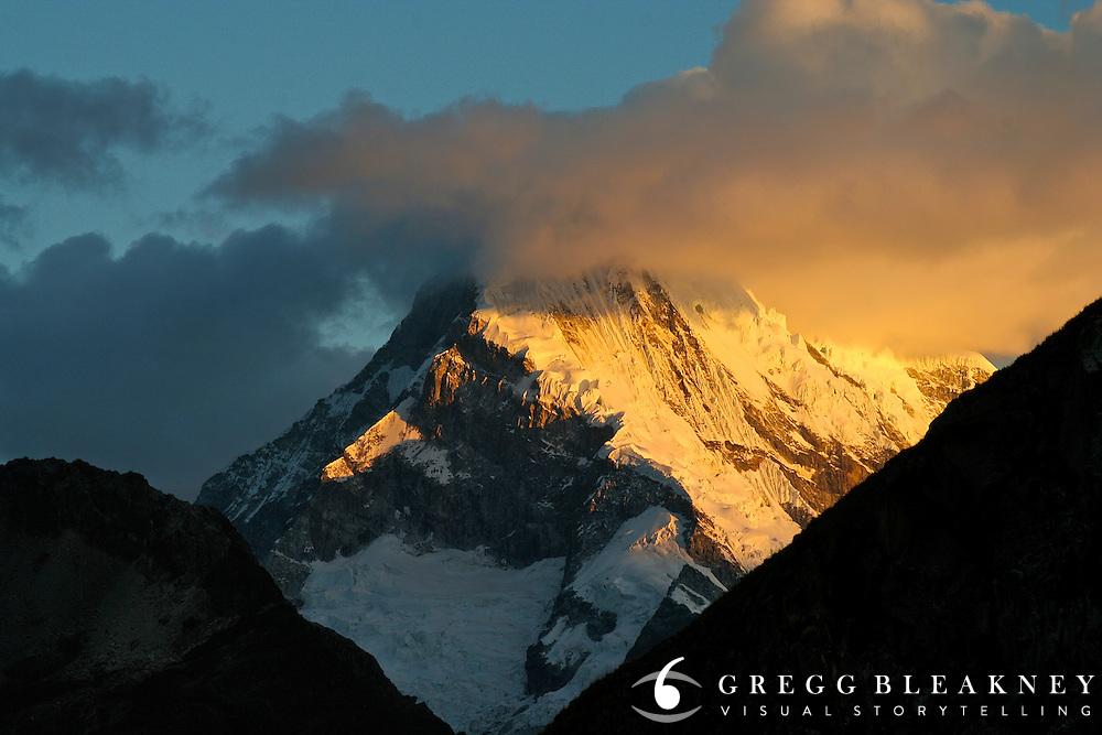 Alpenglow in the Cordillera Blanca - Peru - South America
