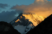 Alpenglow in the Cordillera Blanca - Peru - South America