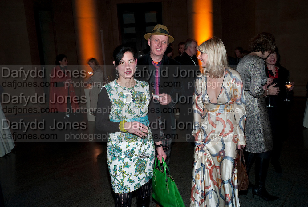 JESSICA VOORSANGER; BOB AND ROBERTA SMITH; SIGRID WILKINSON, Chris Ofili dinner to celebrate the opening of his exhibition. Tate. London. 25 January 2010