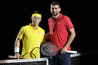30.10.2016;  Basel; Tennis - Swiss Indoors 2016; Kei Nishikori (JPN) und Marin Cilic (CRO)<br /> (Steffen Schmidt/freshfocus)