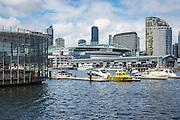 Etihad Stadium at Melbourne City Marina at Docklands