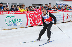 23.03.2017, Ramsau am Dachstein, AUT, Special Olympics 2017, Wintergames, Langlauf, Finale 500 m Freestyle, im Bild Aliaksei Tarasevich (BLR) // Aliaksei Tarasevich of Belarus during the Cross Country Final 500 m Freestyle at the Special Olympics World Winter Games Austria 2017 in Ramsau am Dachstein, Austria on 2017/03/23. EXPA Pictures © 2017, PhotoCredit: EXPA / Martin Huber