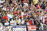 20 October 2014: U.S. fans, the American Outlaws. The United States Women's National Team played the Haiti Women's National Team at RFK Memorial Stadium in Washington, DC in a 2014 CONCACAF Women's Championship Group A game, which serves as a qualifying tournament for the 2015 FIFA Women's World Cup in Canada. The U.S. won the game 6-0.