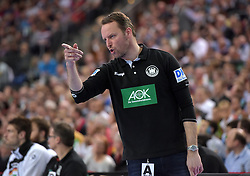 11.03.2016, Leipzig, GER, Handball Länderspiel, Deutschland vs Katar, Herren, im Bild GER Trainer Dagur Sigurdsson // during the men's Handball international Friendlies between Germany and Qatar in Leipzig, Germany on 2016/03/11. EXPA Pictures © 2016, PhotoCredit: EXPA/ Eibner-Pressefoto/ Modla<br /> <br /> *****ATTENTION - OUT of GER*****