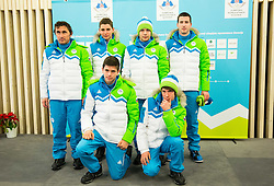 Nordic Combined team during presentation of Slovenian Young Athletes before departure to EYOF (European Youth Olympic Festival) in Vorarlberg and Liechtenstein, on January 21, 2015 in Bled, Slovenia. Photo by Vid Ponikvar / Sportida