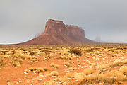 After a brief snow flurry, Monument Valley.