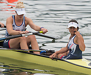 "Rio de Janeiro. BRAZIL.   GBR W8+. left.  Zoe LEE, and cox. Zoe DE TOLEDO . moving awa2016 Olympic Rowing Regatta. Lagoa Stadium,<br /> Copacabana,  ""Olympic Summer Games""<br /> Rodrigo de Freitas Lagoon, Lagoa.   Monday  08/08/2016 <br /> <br /> [Mandatory Credit; Peter SPURRIER/Intersport Images]"