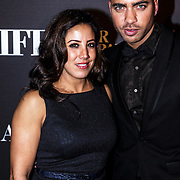 NLD/Amsterdam/20141115 - Life After Football fair 2014, Aicha Marghadi en Greg