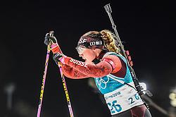 February 12, 2018 - Pyeongchang, Gangwon, South Korea - Lena Haecki ofSwitzerland competing at Women's 10km Pursuit, Biathlon, at olympics at Alpensia biathlon stadium, Pyeongchang, South Korea. on February 12, 2018. (Credit Image: © Ulrik Pedersen/NurPhoto via ZUMA Press)