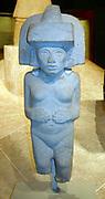 Stone sculpture of Huaxtec female deity. Circa 900-1400 AD, Mexico. Pre-Columbian Mesoamerican Mythology
