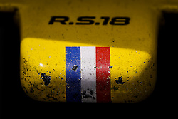 April 27, 2018 - Baku, Azerbaijan - Renault F1 RS18 Renault Sport F1 team, front wing details during the 2018 Formula One World Championship, Grand Prix of Europe in Azerbaijan from April 26 to 29 in Baku - Photo  /  Motorsports: World Championship; 2018; Grand Prix Azerbaijan, Grand Prix of Europe, Formula 1 2018 Azerbaijan Grand Prix, (Credit Image: © Hoch Zwei via ZUMA Wire)