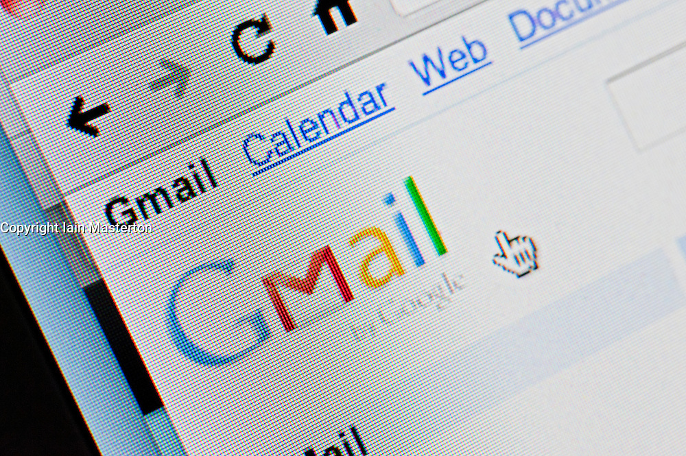 Detail of screenshot from website of Google mail or Gmail email website