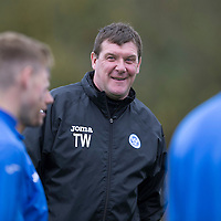 St Johnstone Training...07.11.14<br /> Manager Tommy Wright pictured during training at McDiarmid Park this morning ahead of tomorrow's game at Dundee<br /> Picture by Graeme Hart.<br /> Copyright Perthshire Picture Agency<br /> Tel: 01738 623350  Mobile: 07990 594431